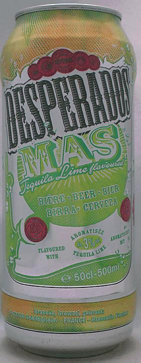 Desperados Beer With Tequila And Lemon Flavor 500ml Mas Tequila Lime F France