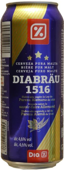 Diabrau Beer 500ml 1516 Bi Re Pur Mal International