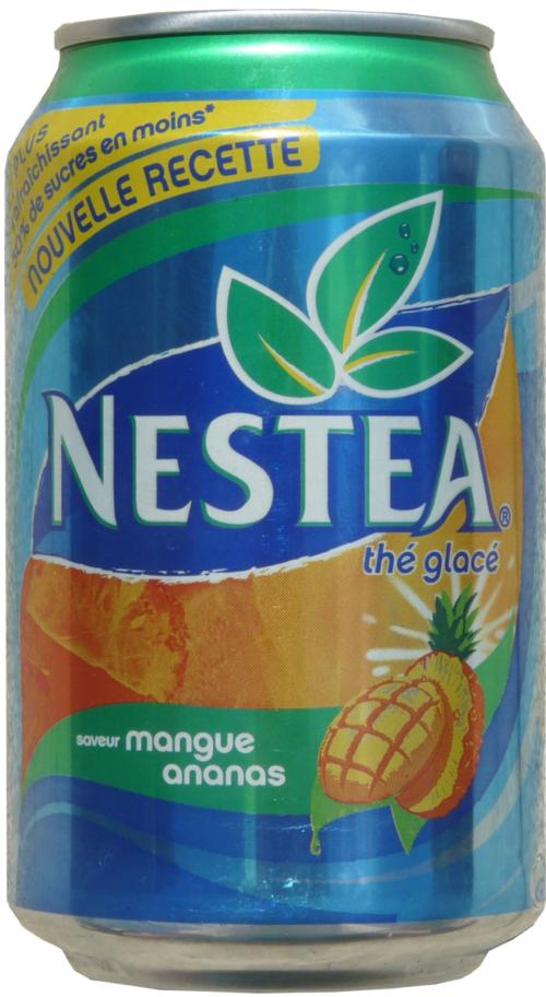 NESTEA-Ice tea -mango/pineapple-330mL-France Nestea Can