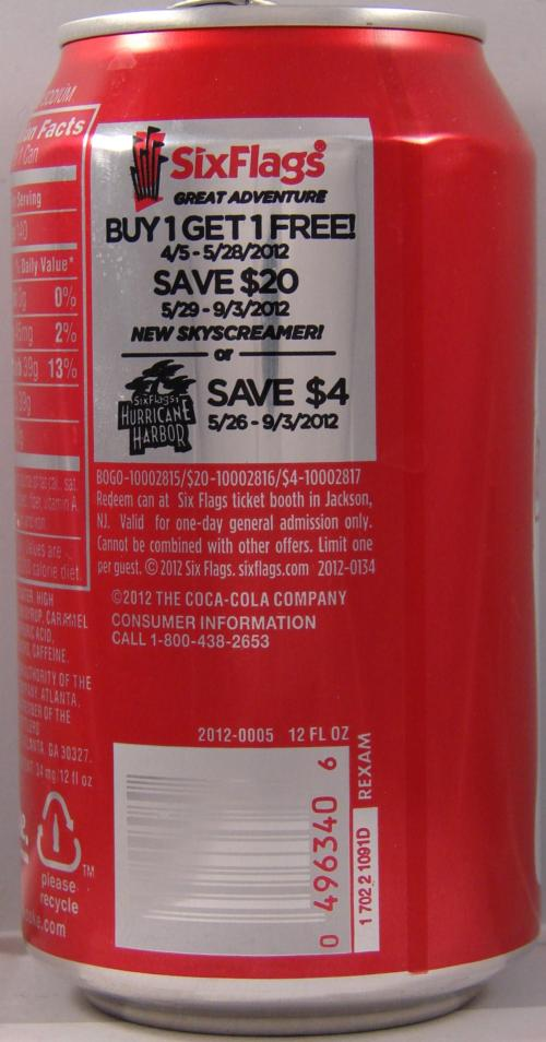 Six flags coupons coke
