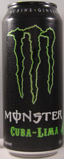 MONSTER-Energy drink -lime-473mL-CUBA-LIMA - TEXTURED-United States