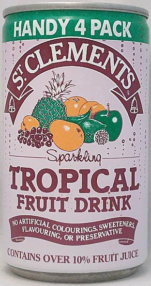 ST CLEMENTS-Tropical fruit soda-330mL-Great Britain
