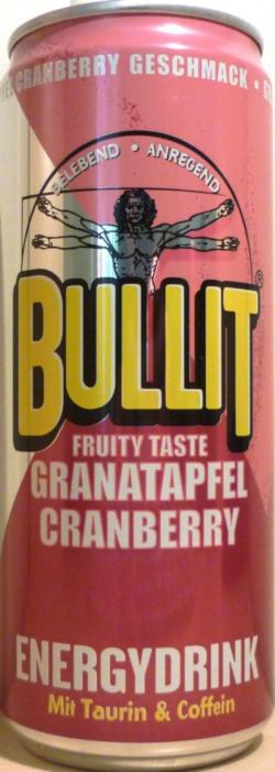 bullit energy drink cranberry pomegranate 330ml fruity. Black Bedroom Furniture Sets. Home Design Ideas