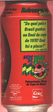 coca cola cola 350ml wc 39 98 de qual pais brazil. Black Bedroom Furniture Sets. Home Design Ideas