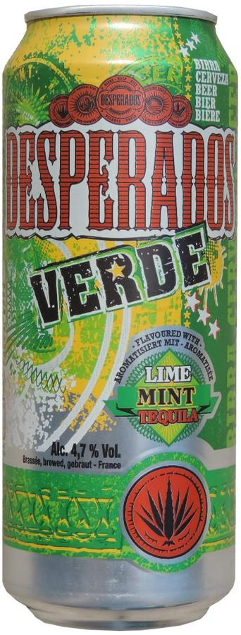 Desperados Beer With Tequila And Lemon Flavor 500ml Verde Lime Mint Te France