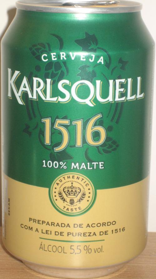 Karlsquell Beer 330ml 1516 Same Can For S Spain
